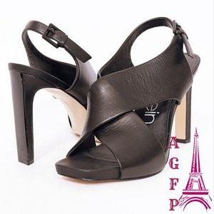 Calvin Klein Myra leather square toe sandals, 11